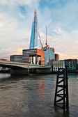 Shard and Thames — Stock Photo