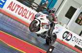 Hyabusa wheelie start — Stock Photo