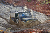 Trialing Land Rover — Stock Photo