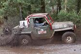 Muddy Jeep — Stock Photo