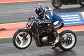 Drag bike wheelie — Stock Photo