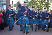 Remebrance service pipers — Stock Photo