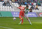 Cordoba, spanien - mars 17:carlos caballero w(21) i action match ligan cordoba(w) vs almeria (r)(4-1) på municipal stadium av ärkeängeln den 17 mars 2013 i cordoba spanien — Stockfoto