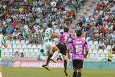CORDOBA, SPAIN - AUGUST 18: Pedro Antonio Sanchez W(15) in action during match league Cordoba (W) vs Ponferradina (B)(1-0) at the Municipal Stadium of the Archangel on august 18, 2013 in Cordoba Spai — Stock Photo