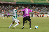 CORDOBA, SPAIN - AUGUST 18: Iago Bouzón W(4) in action during match league Cordoba (W) vs Ponferradina (B)(1-0) at the Municipal Stadium of the Archangel on august 18, 2013 in Cordoba Spain — 图库照片