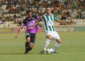 CORDOBA, SPAIN - AUGUST 18: Abel Gómez W(23) in action during match league Cordoba (W) vs Ponferradina (B)(1-0) at the Municipal Stadium of the Archangel on august 18, 2013 in Cordoba Spain — Fotografia Stock