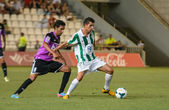 CORDOBA, SPAIN - AUGUST 18: Carlos Caballero W(21) in action during match league Cordoba (W) vs Ponferradina (B)(1-0) at the Municipal Stadium of the Archangel on august 18, 2013 in Cordoba Spain — Foto de Stock