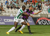 CORDOBA, SPAIN - AUGUST 18: Ayina John W(11) in action during match league Cordoba (W) vs Ponferradina (B)(1-0) at the Municipal Stadium of the Archangel on august 18, 2013 in Cordoba Spain — 图库照片