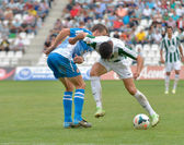 CORDOBA, SPAIN - SEPTEMBER 29: Daniel Espejo W(31) in action during match league Cordoba (W) vs Girona (B)(2-0) at the Municipal Stadium of the Archangel on September 29, 2013 in Cordoba Spain — Stock Photo