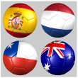 Ball with flags of the teams in Group B World Cup 2014 — Stock Photo #41693403