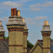 Group of old residential chimneys — ストック写真