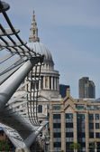 St pauls from millenium bridge — Stock Photo