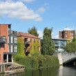 Stock Photo: Modern Riverside buildings