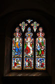 Medieval Stained Glass Window — Stock Photo