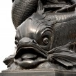 Close up of sculpted fish — Stock Photo