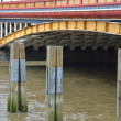 Detail of Lambeth Bridge London - Stock Photo