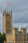 Tower at palace of westminster — Stock Photo
