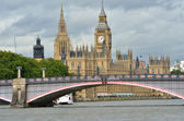 Parliament with lambeth bridge in foreground — Stock Photo