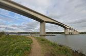 Ponte di Orwell con percorso — Foto Stock