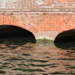 Red brick bridge detail — Stock Photo