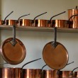 Rows of copper pots — Stock Photo #13882703