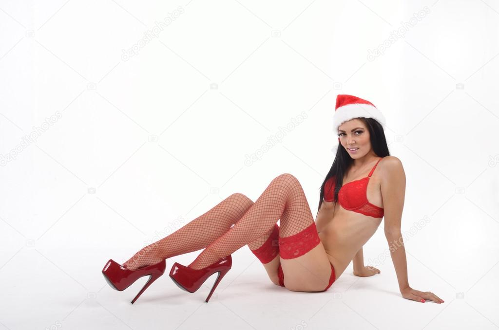 Sexy santa in high heels  — Stock Photo #14068309