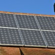 Stock Photo: Solar Panels on House Roof