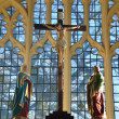 Cross inside Church — Stock Photo