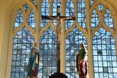 Cross inside Church — Stock Photo