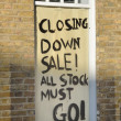 Closing Down sale board — Foto de Stock