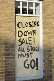 Closing Down sale board — Stockfoto