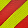 Yellow and red diagonal High Visibility Stripes — Stock Photo