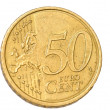 Stock Photo: 50 Cent Euro Coin