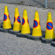 Line of no waiting Cones — Stock Photo