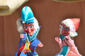 Punch & judy poppenspel — Stockfoto