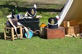 Vintage armé läger — Stockfoto