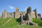 Castelo com parede frontal — Fotografia Stock