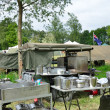 Stock Photo: Army outdoor kitchen