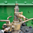 Brass tap detail on steam engine — Stock Photo