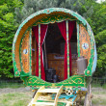 Traditional gypsy caravan — Stock Photo