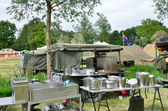 Army outdoor kitchen — Stock Photo