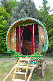 Traditionelle gypsy caravan — Stockfoto