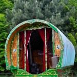 Traditional romany caravan — Stock Photo