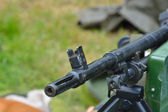 Machine gun detail — Stock Photo