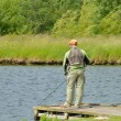 Stock Photo: Fly Fisherman
