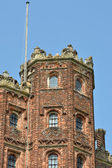 Detail of elizabethan tower — Stock Photo