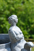 Detail of pot with female figure — Stock Photo