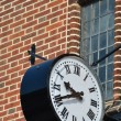 Stock Photo: Old clock with brickwork