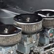Stock Photo: Three carburetor close up