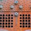 Stock Photo: Detail of rusty steam boiler